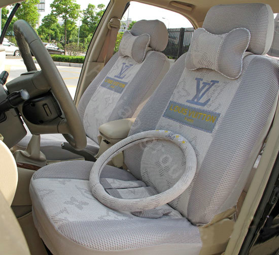Buy Wholesale LV Ice Silk Universal Car Seat Covers Sets