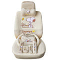 Snoopy ice silk universal Car Seat Covers sets - beige