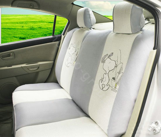 buy wholesale snoopy ice silk universal car seat covers sets gray eb003 car seat covers. Black Bedroom Furniture Sets. Home Design Ideas