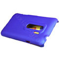 100% Brand matte Skin cases covers for HTC EVO 3D - Blue