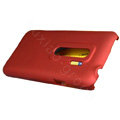 100% Brand matte Skin cases covers for HTC EVO 3D - Red