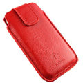 PIERVES Holster leather case for Blackberry Storm 9530 - red