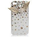 Angel wings bling crystal case covers for iPhone 4G