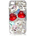 Bling Bowknot Swarovski crystal case for iPhone 4G