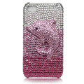 Bling Dolphin crystal cases covers for iPhone 4G - pink