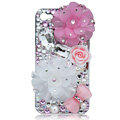 Bling Flowers Swarovski crystal cases covers for iPhone 4G