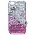 Bling Lion Swarovski crystal cases covers for iPhone 4G