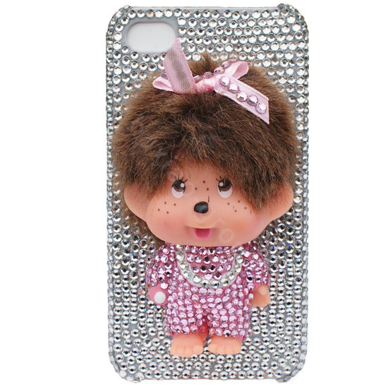 NAME:Bling Monchichi crystal cases covers for iPhone 4G - white - Bling-Monchichi-crystal-cases-covers-for-iPhone-4G-white-l1