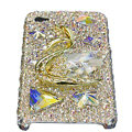 Bling Swarovski Big Swan crystal cases covers for iPhone 4G