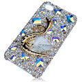 Bling Swarovski Big Swan crystal cases for iPhone 4G
