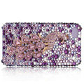 Bling Swarovski Peacock crystal cases for iPhone 4G - pink