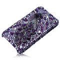 Bling Swarovski Peacock crystal cases for iPhone 4G - purple