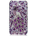 Bling Swarovski Peacock crystal cases for iPhone 4G