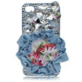 Flower Bling Swarovski crystal case covers for iPhone 4G