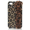 leopard animal print Bling crystal case for iPhone 4G