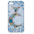 Bling Blue Moon crystal cases covers for iPhone 4G