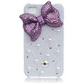 Bling Bowknot Love Pearl cases skin for iPhone 4G