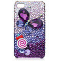 Bling Butterfly Swarovski crystal cases skin for iPhone 4G