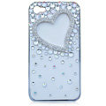 Bling Heart crystal cases covers for iPhone 4G
