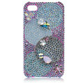 Bling Olympic Ring Swarovski crystal cases covers for iPhone 4G