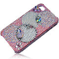 Bling Olympic Ring Swarovski crystal cases skin for iPhone 4G