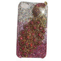 Bling Peacock Swarovski crystal cases Covers for iPhone 4G - Red