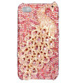 Bling Peacock Swarovski crystal cases covers for iPhone 4G - Rose