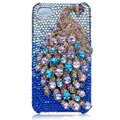Bling Peacock Swarovski crystal cases for iPhone 4G - Blue
