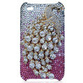 Bling Peacock Swarovski crystal cases for iPhone 4G - Red