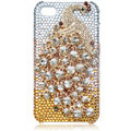 Bling Peacock Swarovski crystal cases for iPhone 4G - yellow