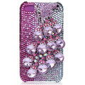 Bling Peacock Swarovski crystal cases skin for iPhone 4G - Pink