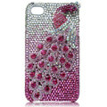Bling Peacock Swarovski crystal cases skin for iPhone 4G - Rose