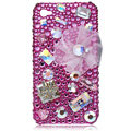 Bling Swarovski crystal cases covers for iPhone 4G - rose