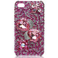Bling bowknot Swarovski crystal cases for iPhone 4G - rose