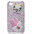 Hello kitty Bling Swarovski crystal cases for iPhone 4G