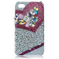 Swarovski Bling crystal cases covers for iPhone 4G - rose