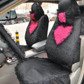 Bud silk Lace Car Seat Covers sets - Black