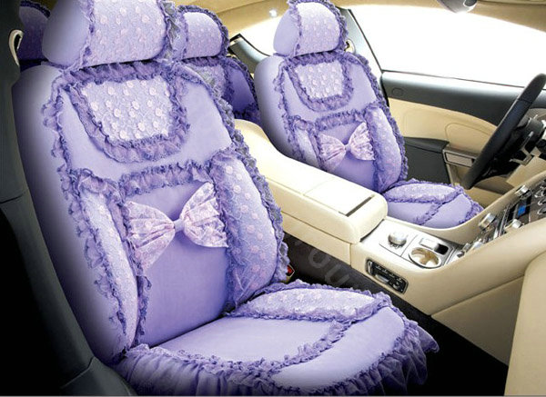 buy wholesale bud silk lace car seat covers sets purple eb006 car seat covers accessories. Black Bedroom Furniture Sets. Home Design Ideas