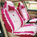 Hello Kitty Ice silk Lace Car Seat Covers sets - Rose