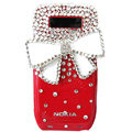 Butterfly bling crystal case for Nokia E71 E72 - Red