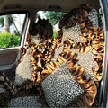 Leopard car seat covers Cotton seat covers - Brown EB004