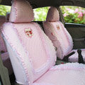 Winnie the pooh Ice silk universal Car Seat Covers - Pink EB003