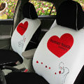 Human Touch Car Seat Covers Custom seat covers - White