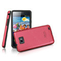 IMAK Slim Metal Silicone Cases Covers for Samsung i9100 GALAXY SII S2 - Red