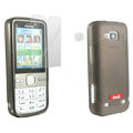 IMAK Ultra-thin Scrub Transparency cases covers for Nokia C5-00 - Gray(+Protector Screen )