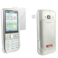 IMAK Ultra-thin Scrub Transparency cases covers for Nokia C5-00 - White(+Protector Screen )