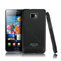 IMAK Ultra-thin Scrub color cases covers for Samsung i9100 GALAXY SII S2 - Black