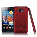 IMAK Ultra-thin Scrub color cases covers for Samsung i9100 GALAXY SII S2 - Red