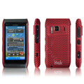 IMAK Slim Scrub Mesh Silicone Hard Cases Covers For Nokia N8 - Red