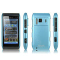 IMAK Ultra-thin Scrub Silicone hard cases Covers for Nokia N8 - Blue